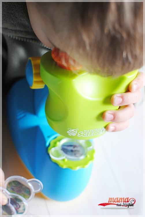 mikroskop dla dzieci, mikroskop, mały odkrywca