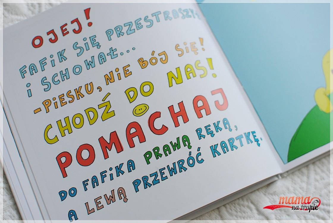 książka aktywizująca, ced, książka dla dziecie,  pobaw się z fafikiem
