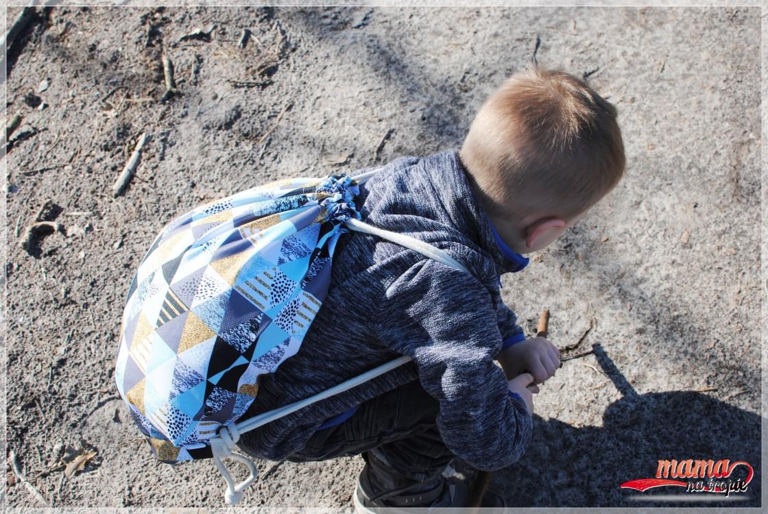 spacer z dzieckiem, plecako-worek, Maremidesign, wspólna niedziela