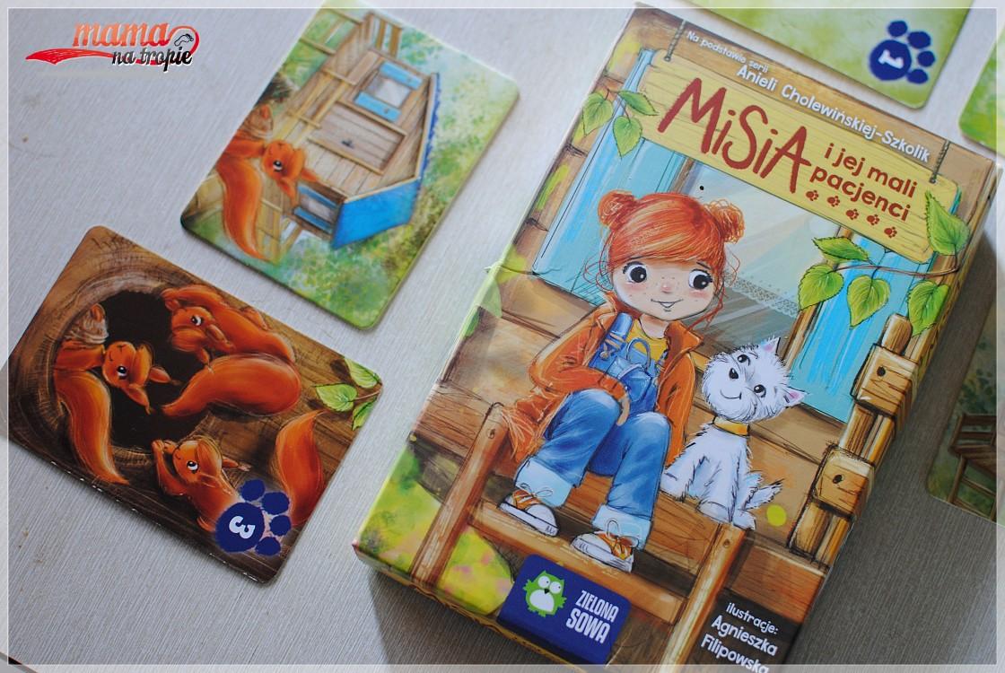 gra dla dzieci 4+, gra edukacyjna, zielona sowa, misia i jej mali przyjaciele
