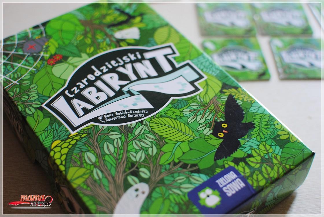 czarodziejski labirynt, gra 6+, gra dla dzieci, zielona sowa
