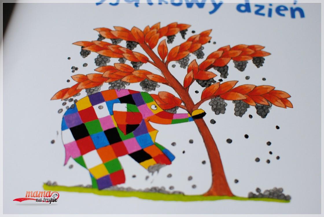 elmer, książka dla dzieci, papilon, kolorowy słoń
