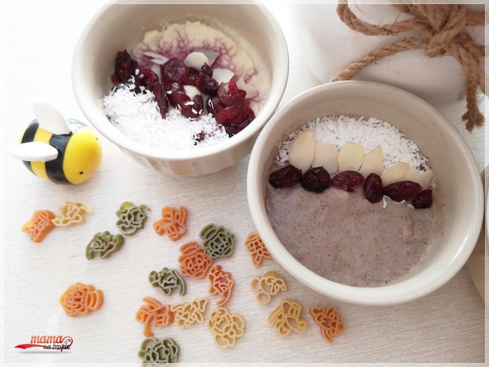 zdrowe śniadanie, kaszka jaglana, żurawina, śniadanie dla dzieci