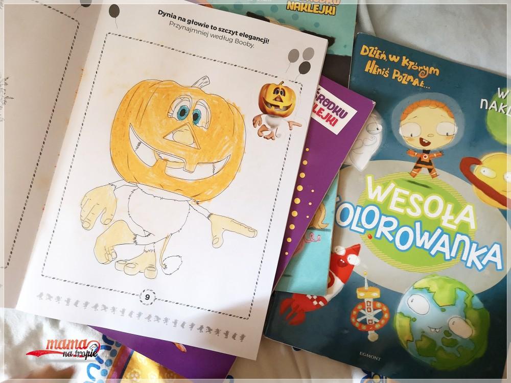 booba, książka zadań, kolorowanka, egmont, dla dzieci