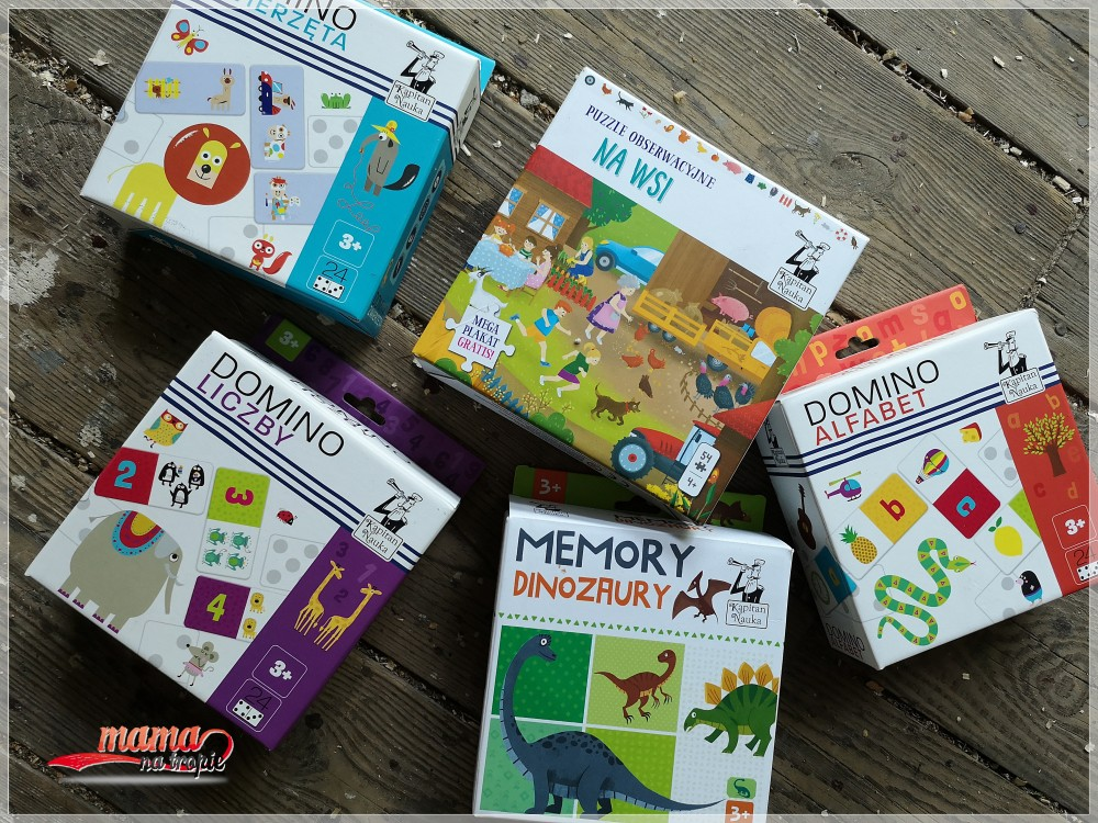 zabawa dla dzieci, puzzle obserwacyjne, domino, memory, kapitan nauka