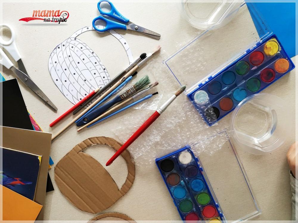 prace wielkanocne DIY z dzieckiem, koszyczki wielkanocne, prace plastyczne z dzieckiem, koszyczek wielkanocny DIY, prace plastyczne DIY