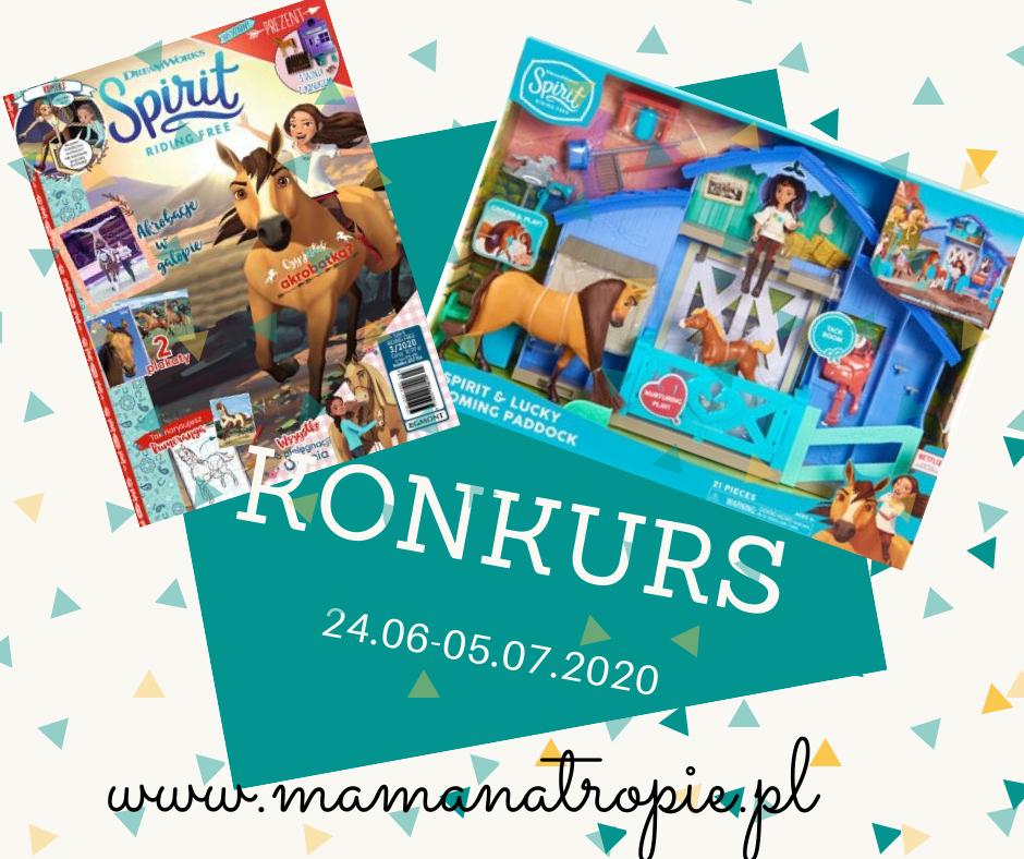 spirit riding free konkurs, konkurs dla dzieci, egmont, zabawka licencyjna, magazyn dla dzieci