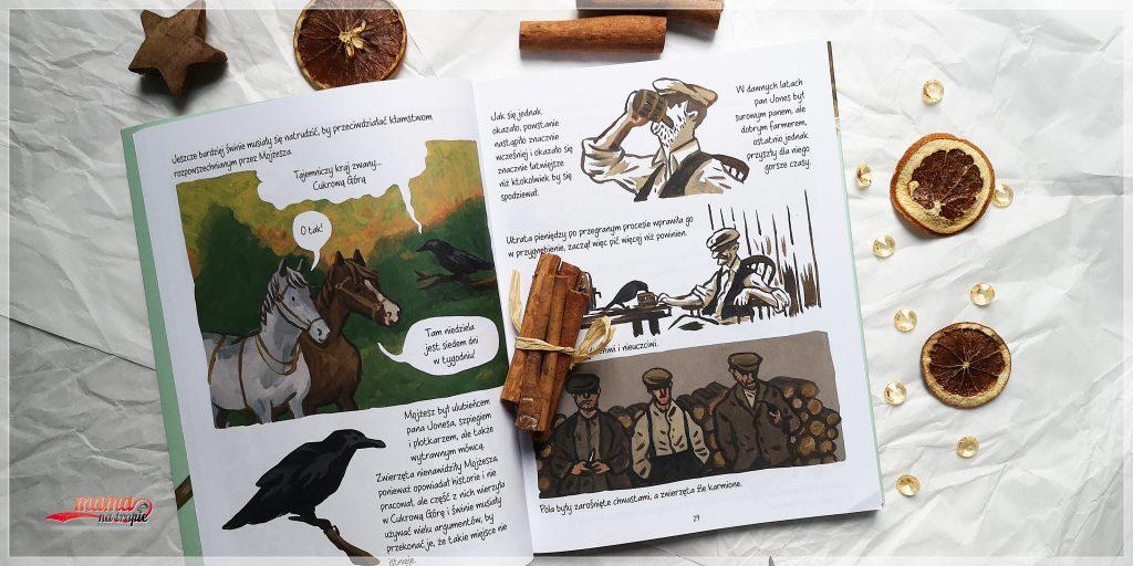 folwark zwierzęcy, george orwell, wydawnictwo jaguar, opowieść graficzna, powieść, lektura