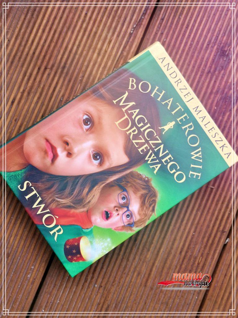 bohaterowie magicznego drzewa, znak emotikon, książka dla dzieci, powieść, andrzej maleszka